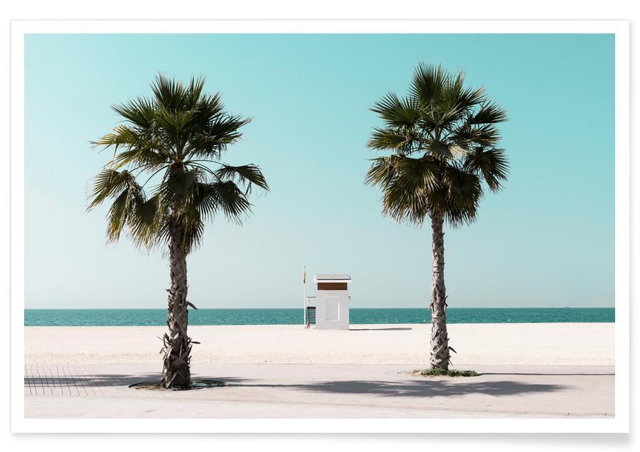 Strande, Rejser, Beach Blue by @tmstefanko Plakat