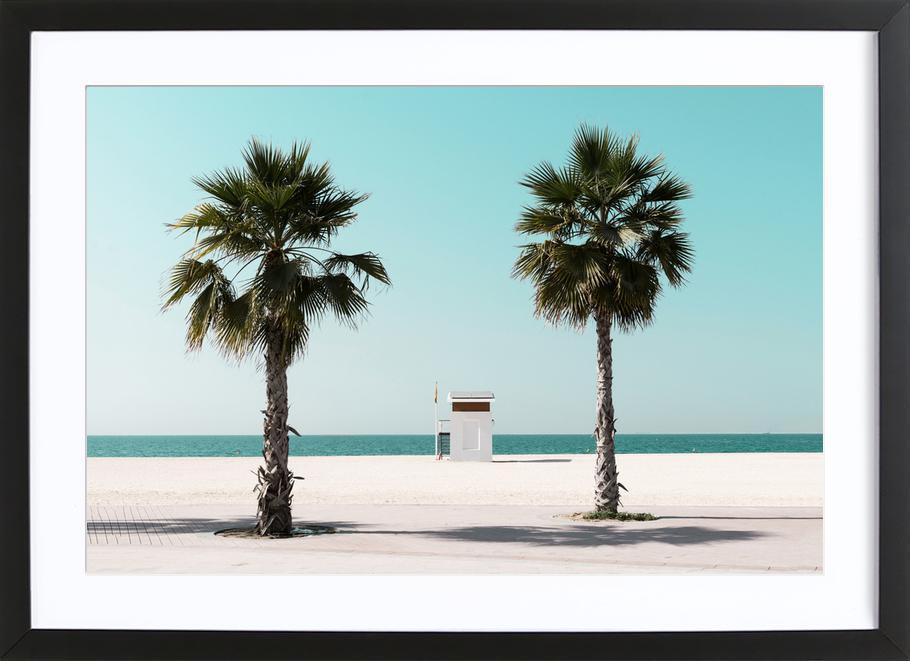 Beach Blue by @tmstefanko -Bild mit Holzrahmen