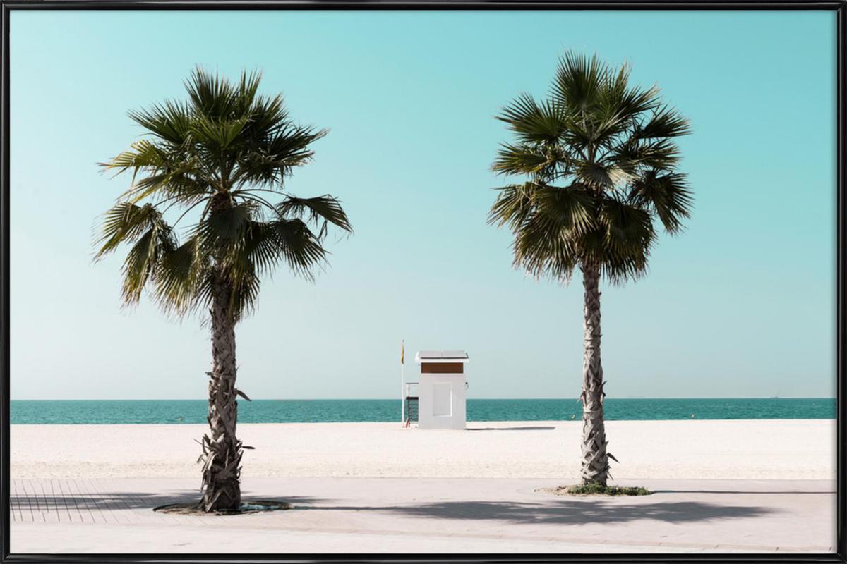 Beach Blue by @tmstefanko -Bild mit Kunststoffrahmen