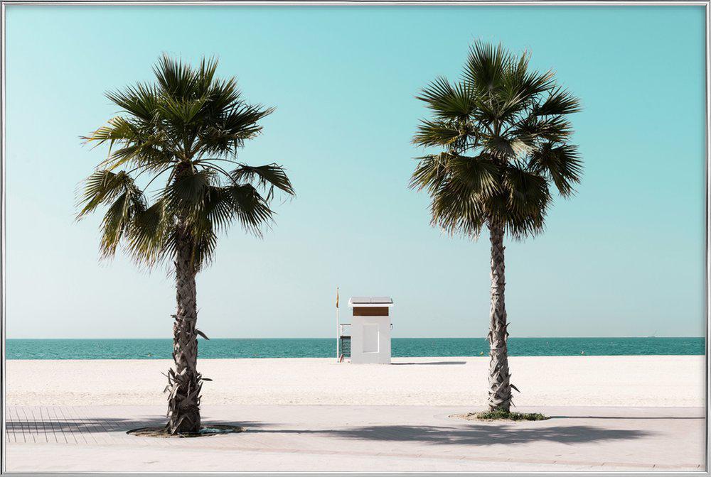 Beach Blue by @tmstefanko Poster in Aluminium Frame