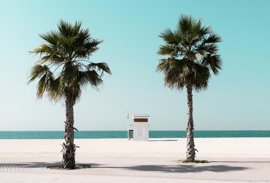 Beach Blue by @tmstefanko Aluminium Print