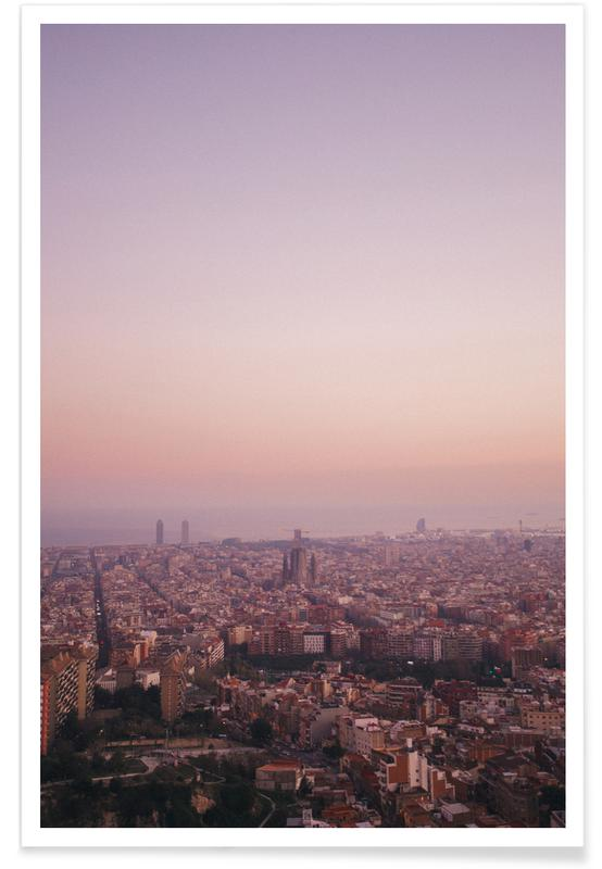 Skies & Clouds, Barcelona, Barcelona - Spain Poster