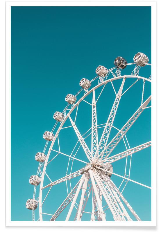 Skies & Clouds, Ferris Wheel Poster