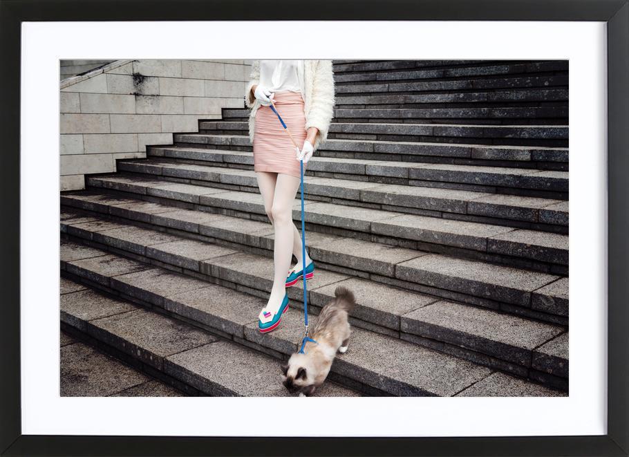 Act Like a Lady by @LinasWasHere -Bild mit Holzrahmen