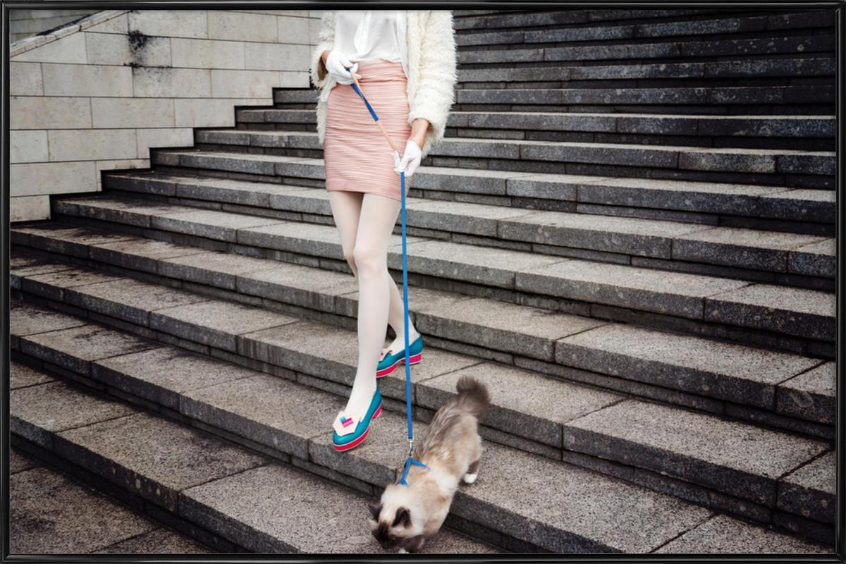 Act Like a Lady by @LinasWasHere -Bild mit Kunststoffrahmen