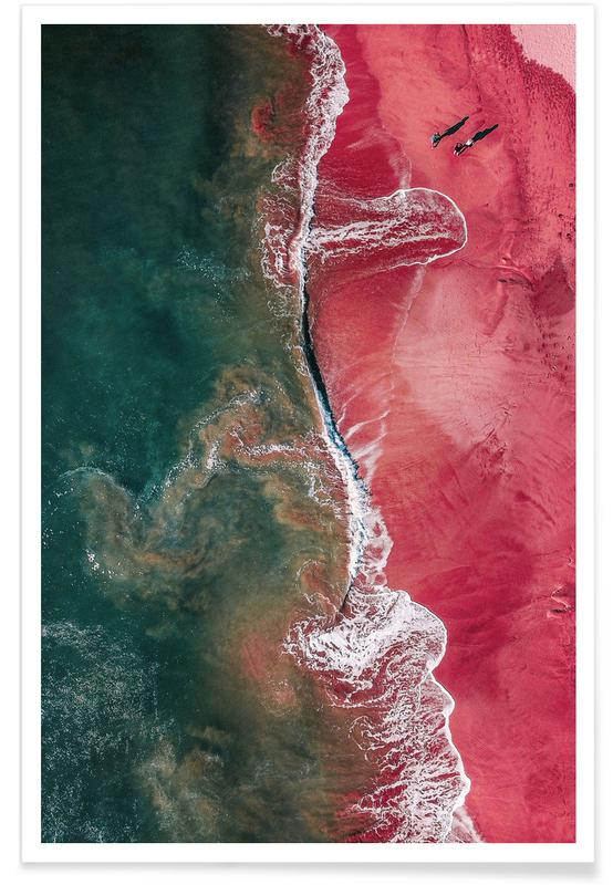 Beaches, Red Landing Poster