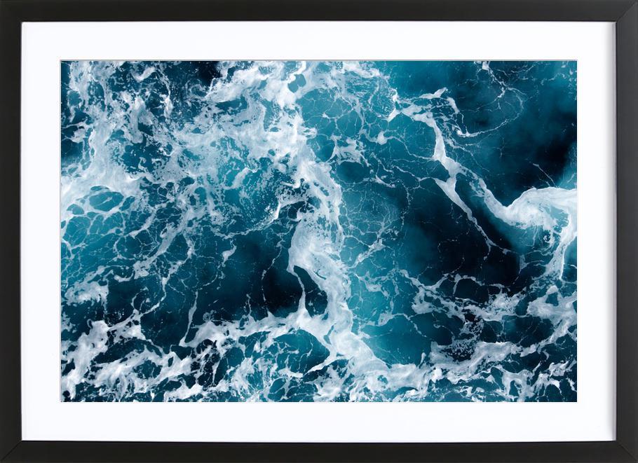 The Sea by @Michaela_LRA affiche sous cadre en bois