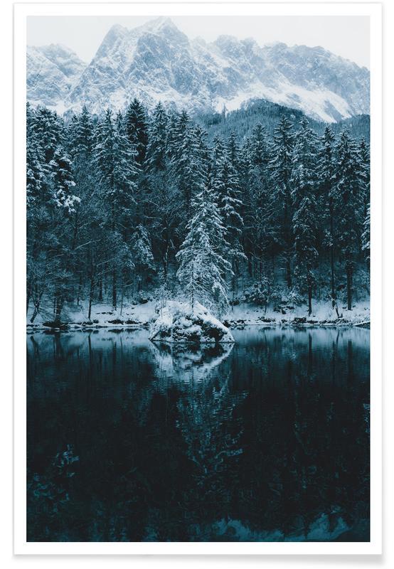 Skove, Hav, sø & havlandskab, Snowy Peaks by @regnumsaturni Plakat