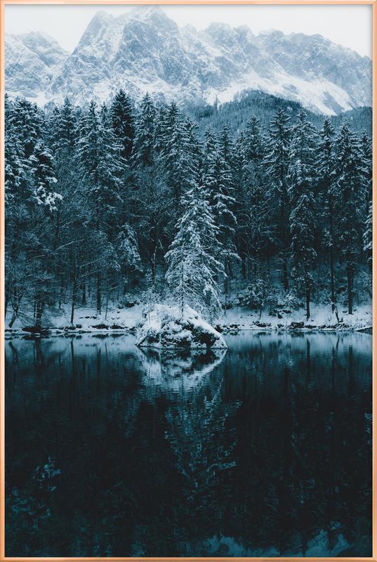 Snowy Peaks by @regnumsaturni Poster i aluminiumram