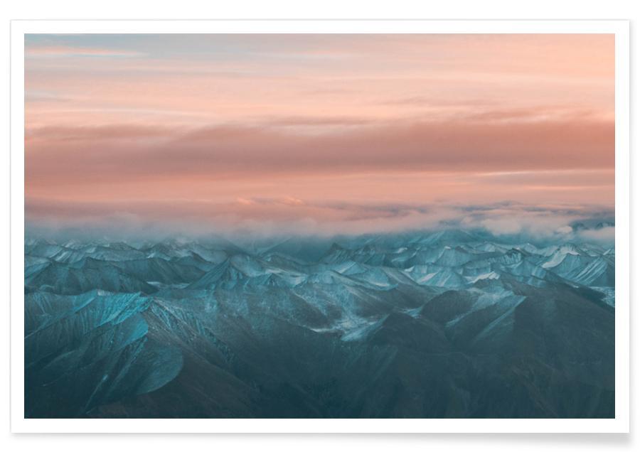 Bjerge, Solnedgange, Shepherd's Delight by @kshitijrihal26 Plakat