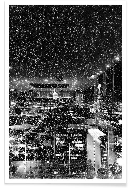 Rainy Megalopolis by @tungsxx Poster