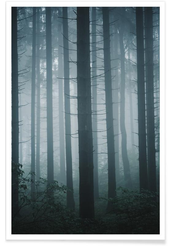 Wälder, Morning Mist by @goldenhourpictures -Poster