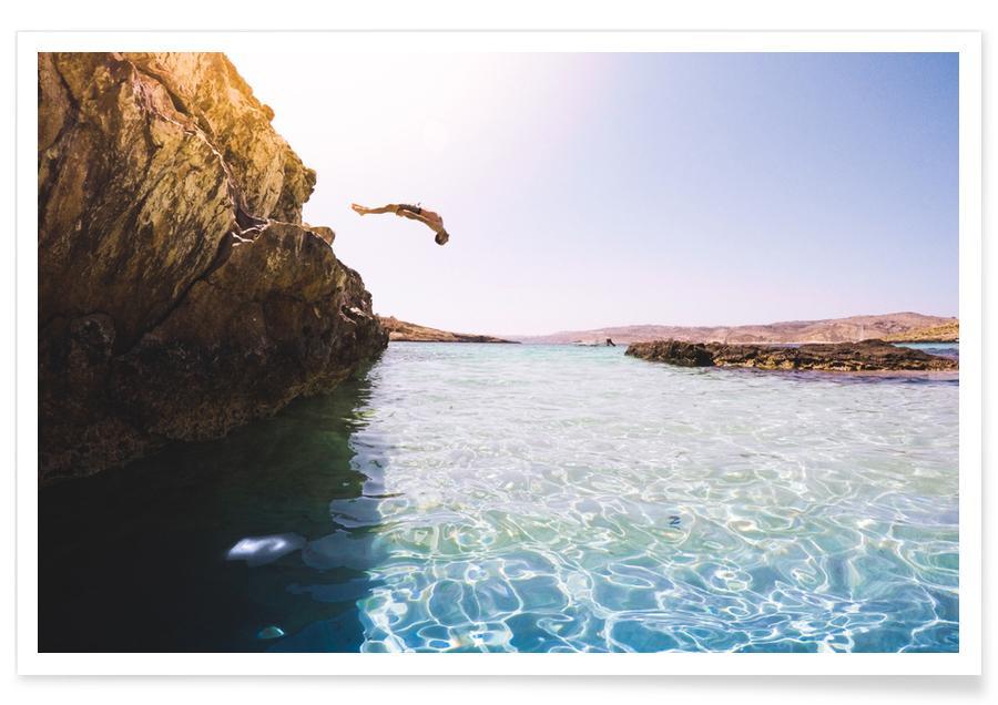 Hav, sø & havlandskab, Rejser, Jump by @adamsmialy Plakat