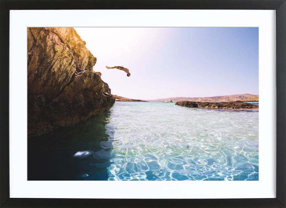 Jump by @adamsmialy -Bild mit Holzrahmen