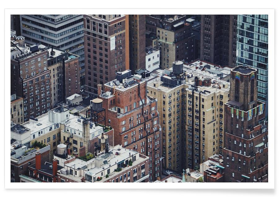 The Rooftops of NYC by @Merethee affiche