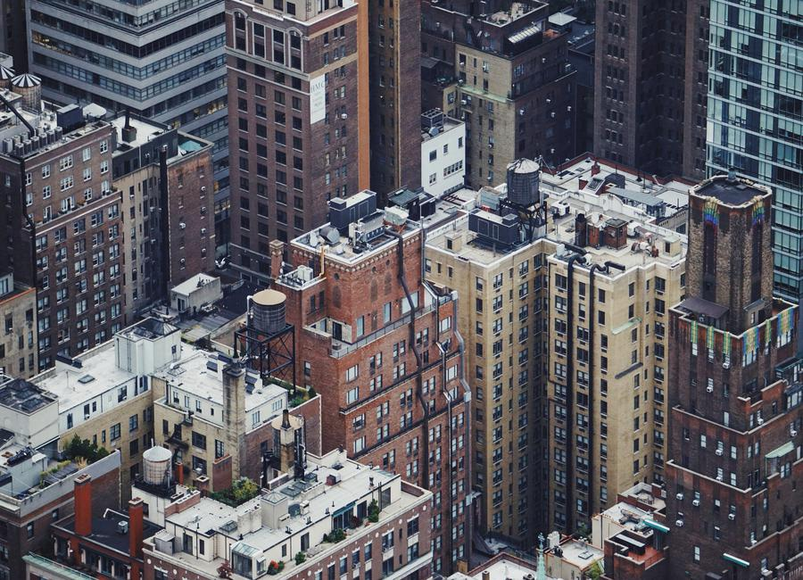 The Rooftops of NYC by @Merethee Canvastavla