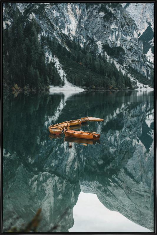 Orange Fleet by @DaniKla -Bild mit Kunststoffrahmen