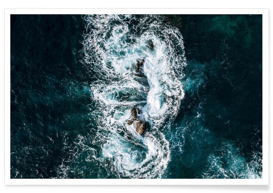 Hav, sø & havlandskab, Whirling Waves by @regnumsaturni Plakat