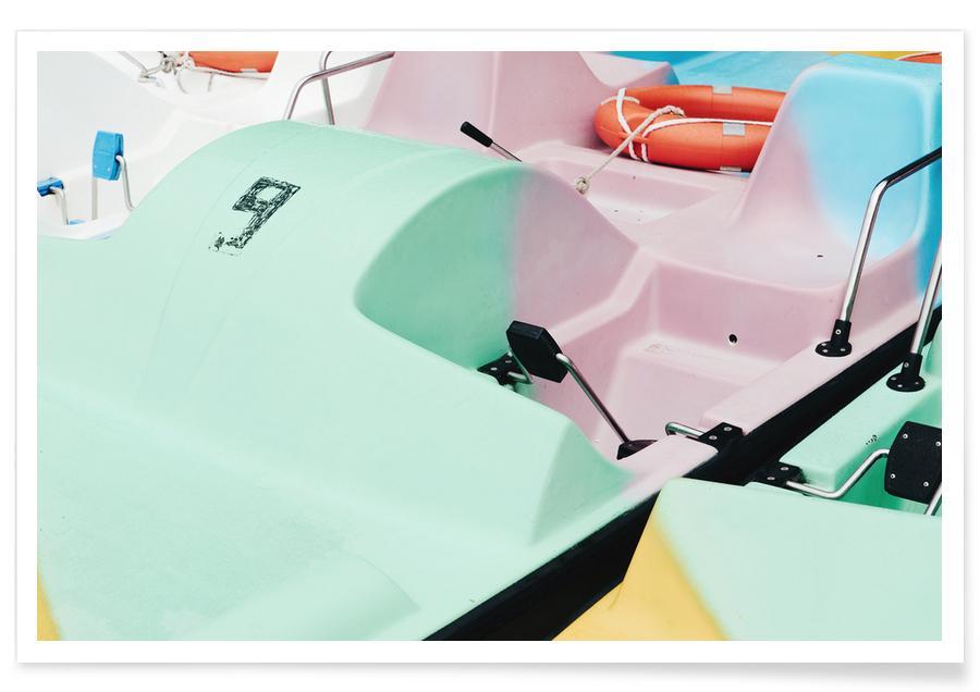 Bateaux, Pastel Power by @arnowoe affiche