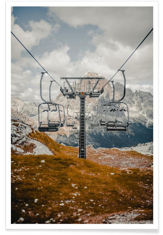 Skiløb og snowboarding, Rejser, Bjerge, Reaching New Heights by @MatesCho Plakat