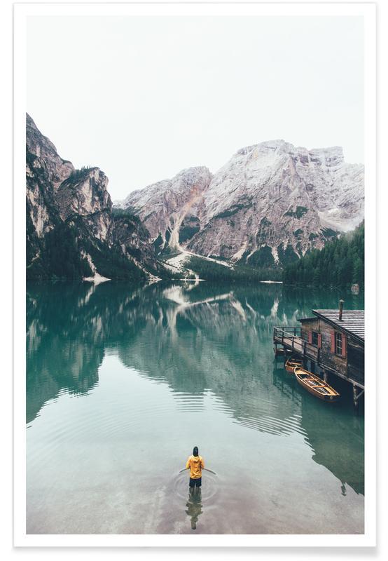 Hidden Lake by Ueli Frischknecht affiche