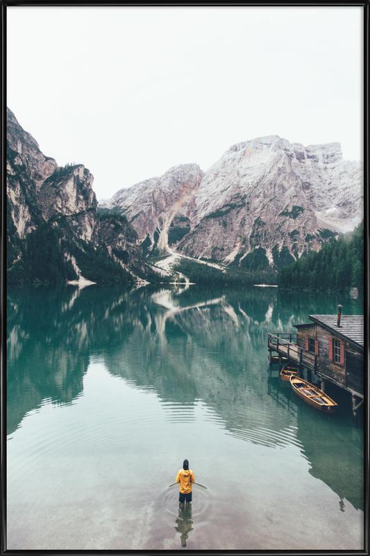 Hidden Lake by Ueli Frischknecht ingelijste poster