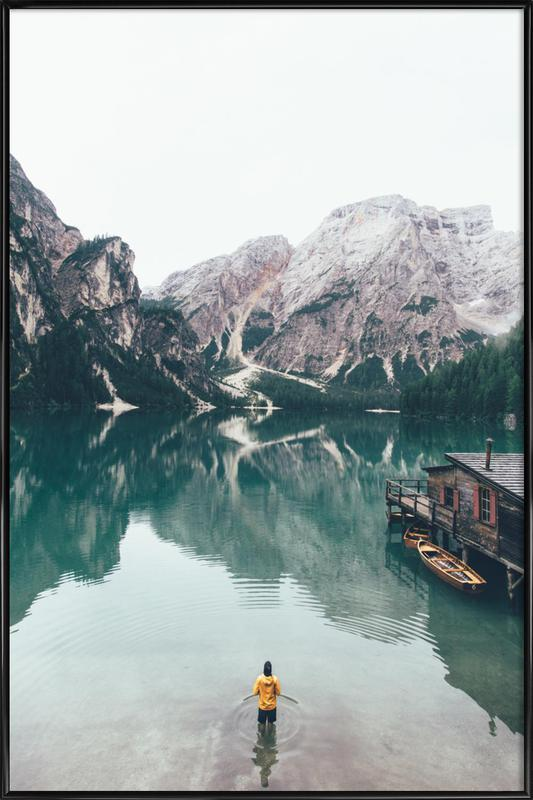 Hidden Lake by Ueli Frischknecht Framed Poster