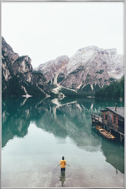 Hidden Lake by Ueli Frischknecht Poster in Aluminium Frame