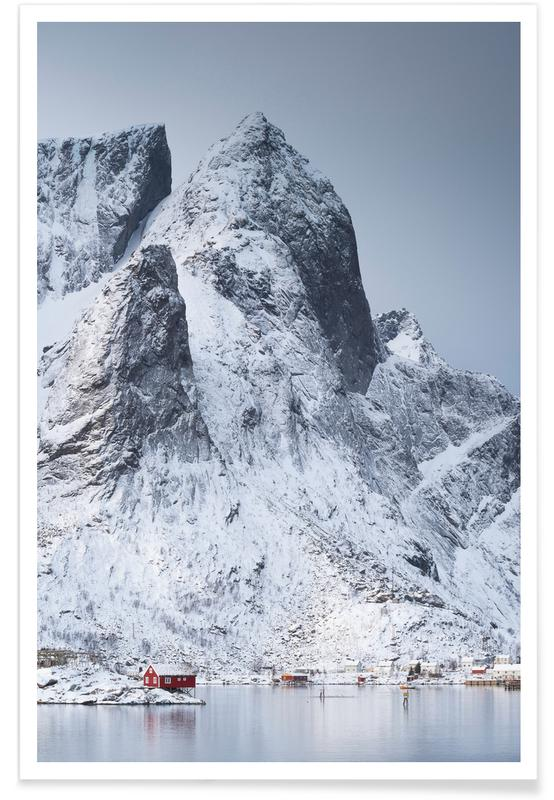 Bjerge, Snow-Capped Peaks by Massimo Zappula Plakat