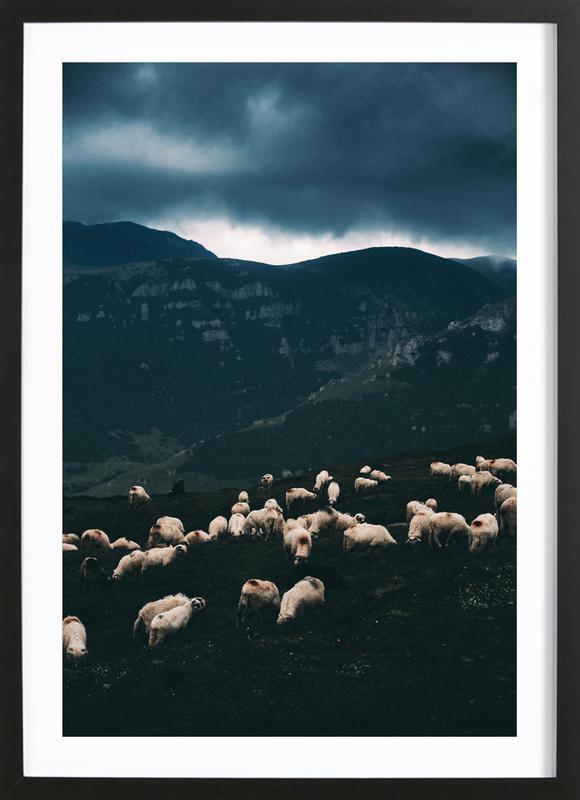 Ride out the Storm by Szabo Ervin-Edward affiche sous cadre en bois