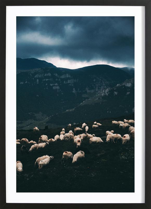 Ride out the Storm by Szabo Ervin-Edward -Bild mit Holzrahmen