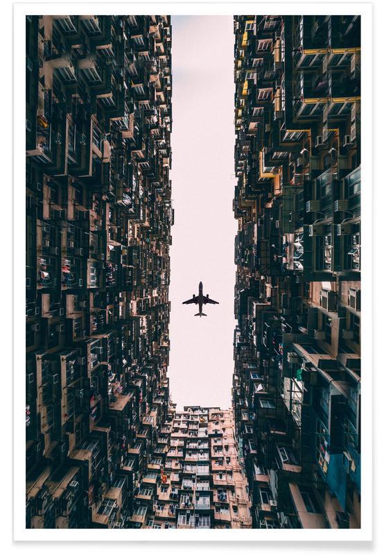Vliegtuig foto poster