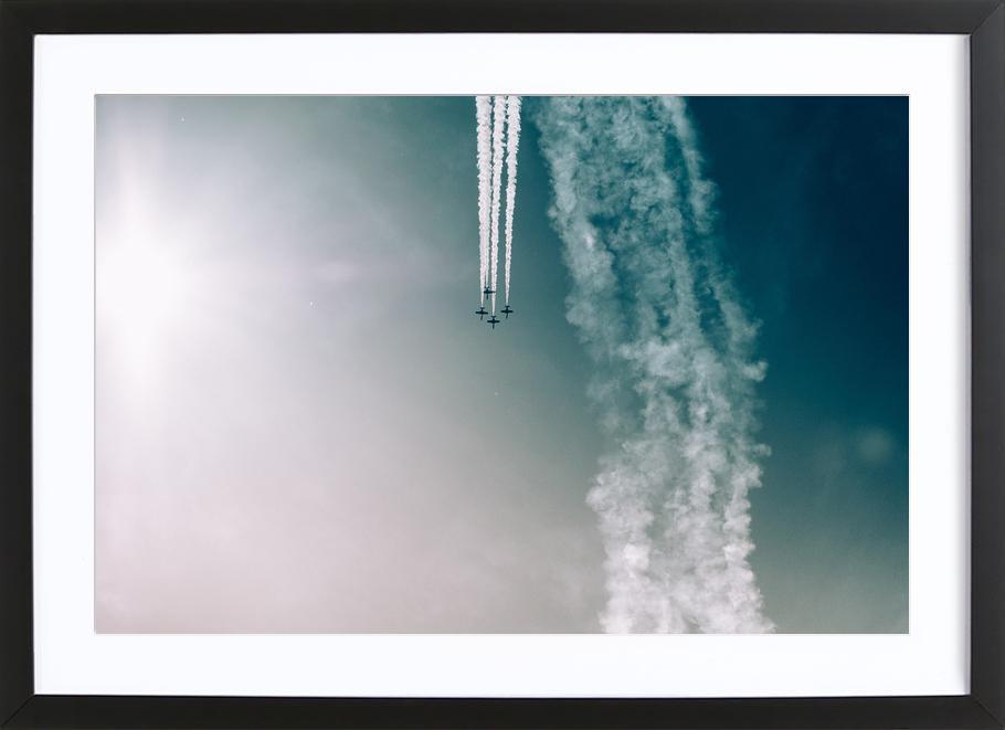 Squadron of the Skies by Jonas Peschel affiche sous cadre en bois