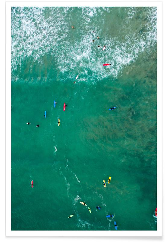Océans, mers & lacs, Surf, Everybody's Gone Surfin' by Lentam affiche