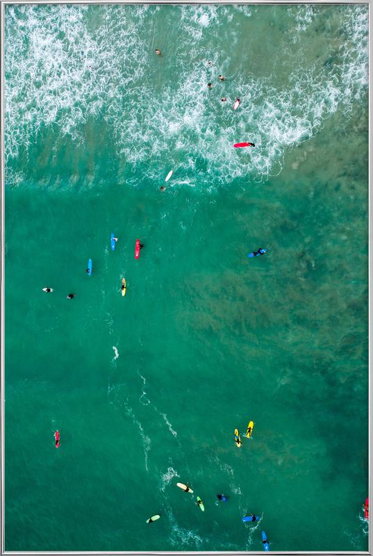 Everybody's Gone Surfin' by Lentam Poster in Aluminium Frame