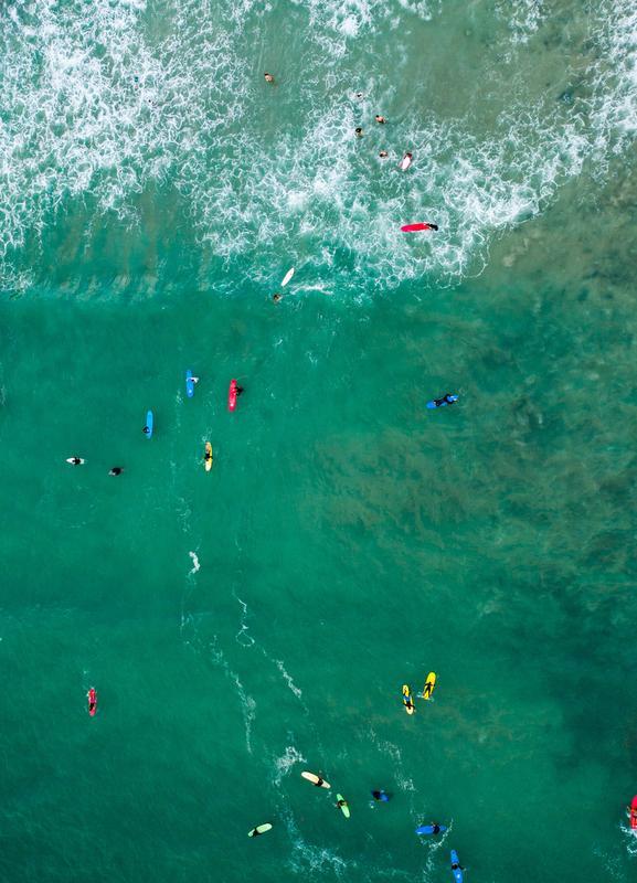 Everybody's Gone Surfin' by Lentam Canvas Print