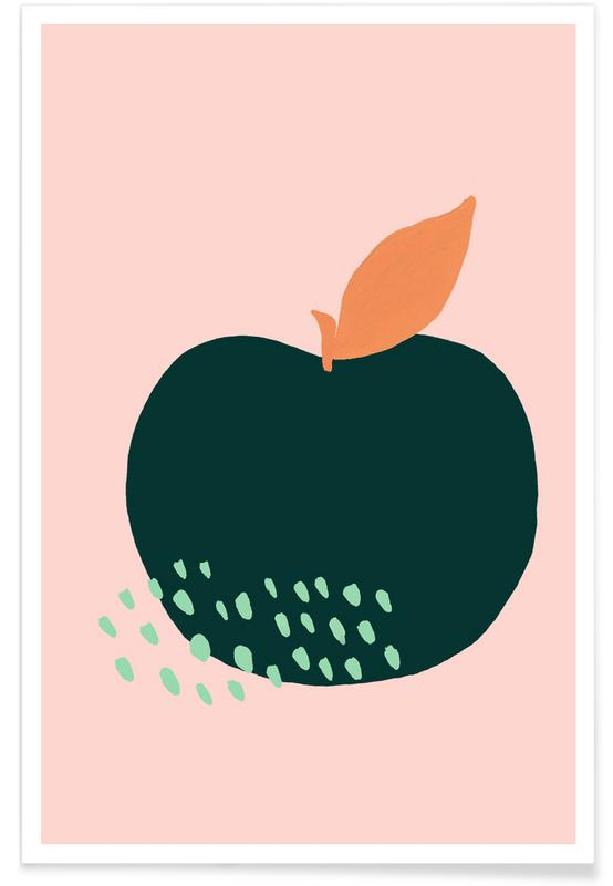 Joyful Fruits - Apple Poster