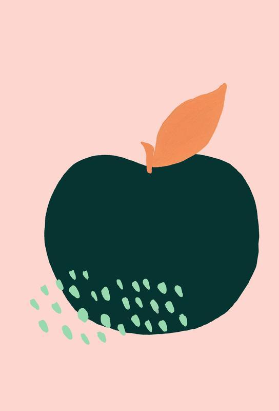 Joyful Fruits - Apple alu dibond