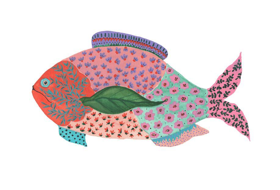 Fancy Fish -Acrylglasbild