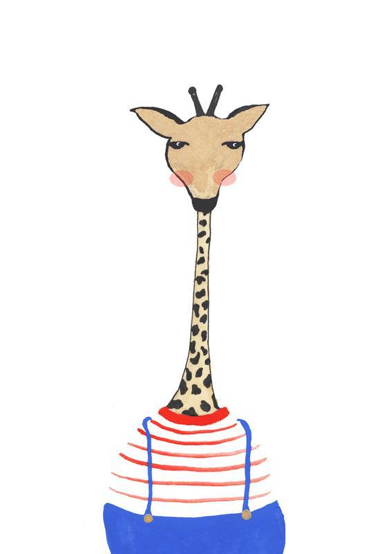 Giraffe with Clothes -Alubild