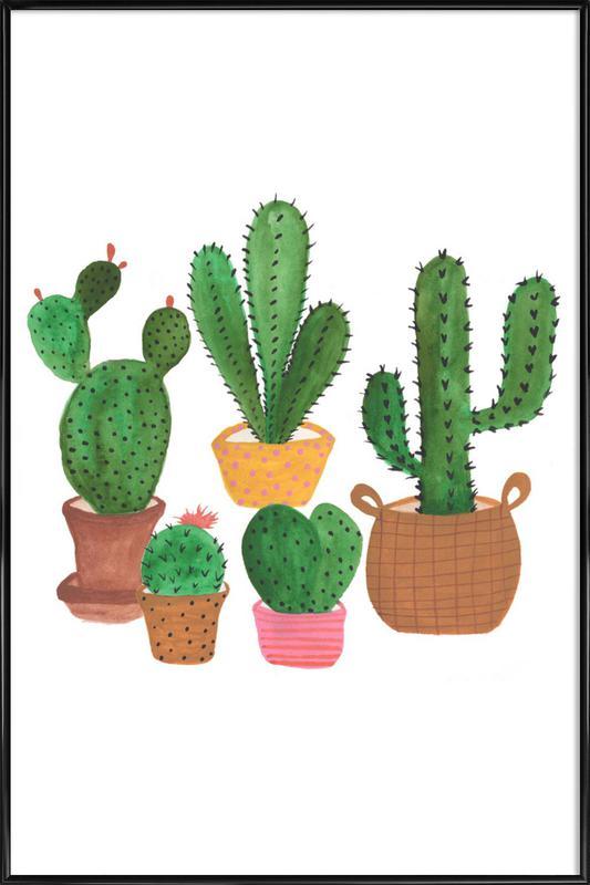 Cactus Family affiche encadrée