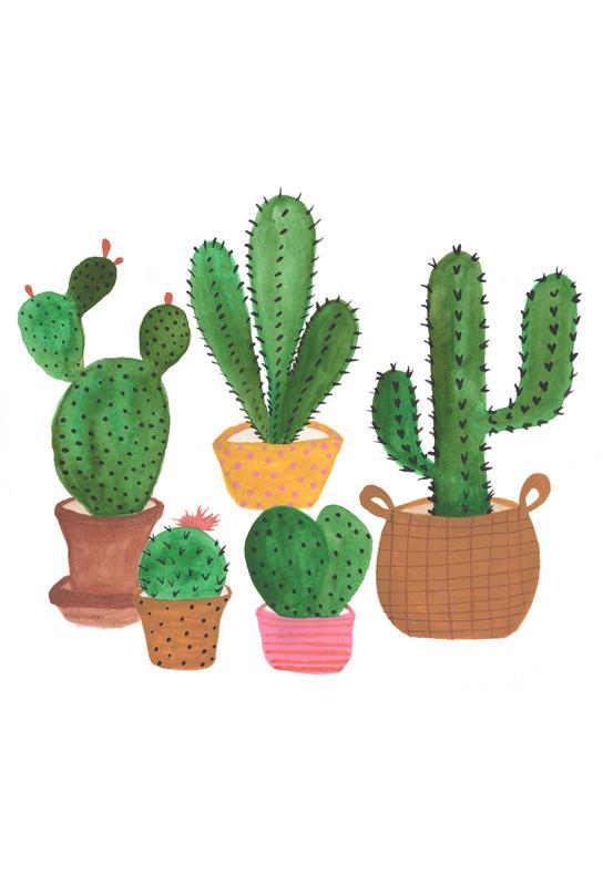 Cactus Family Aluminium Print