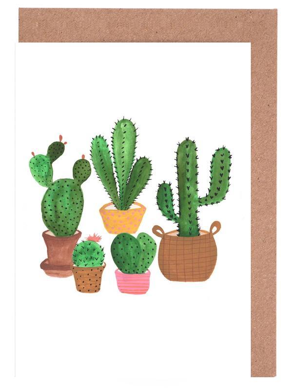 Cactus Family -Grußkarten-Set