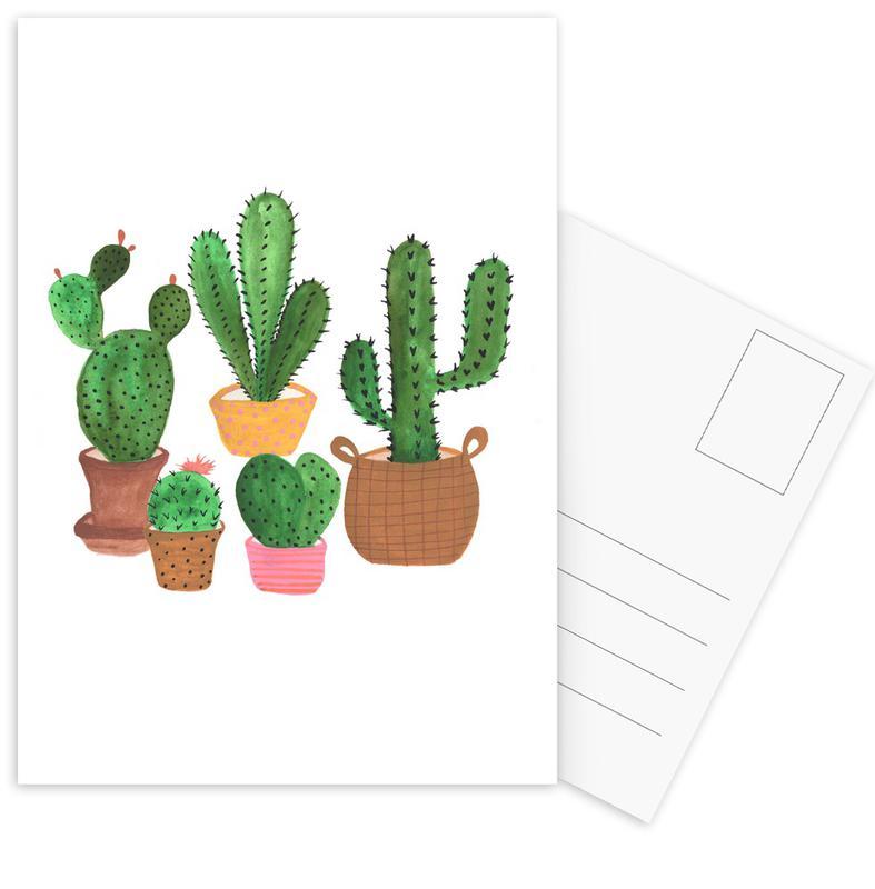 Cactus Family -Postkartenset