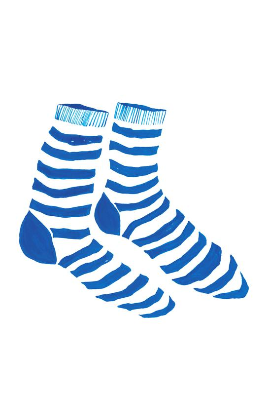 Striped Socks tableau en verre