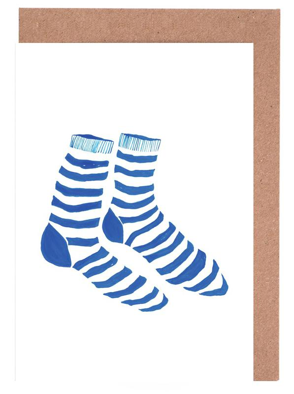 Striped Socks Greeting Card Set