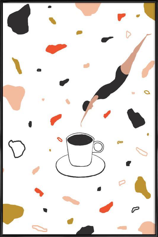Coffee Lady ingelijste poster