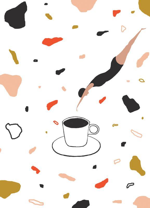 Coffee Lady canvas doek