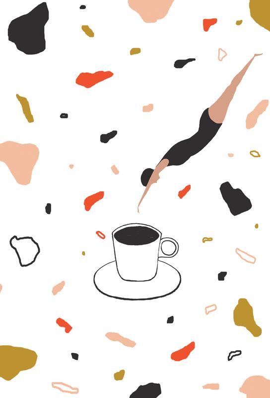Coffee Lady Impression sur alu-Dibond
