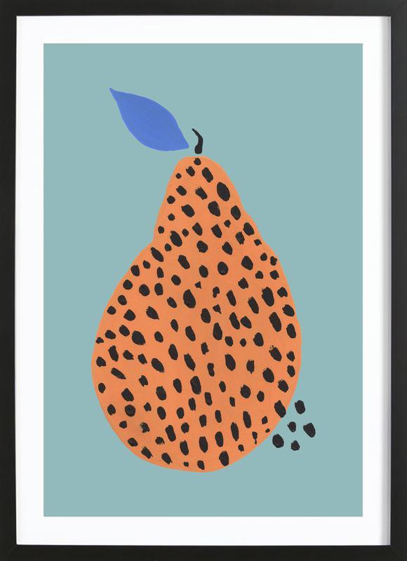 Joyful Fruits - Pear Framed Print